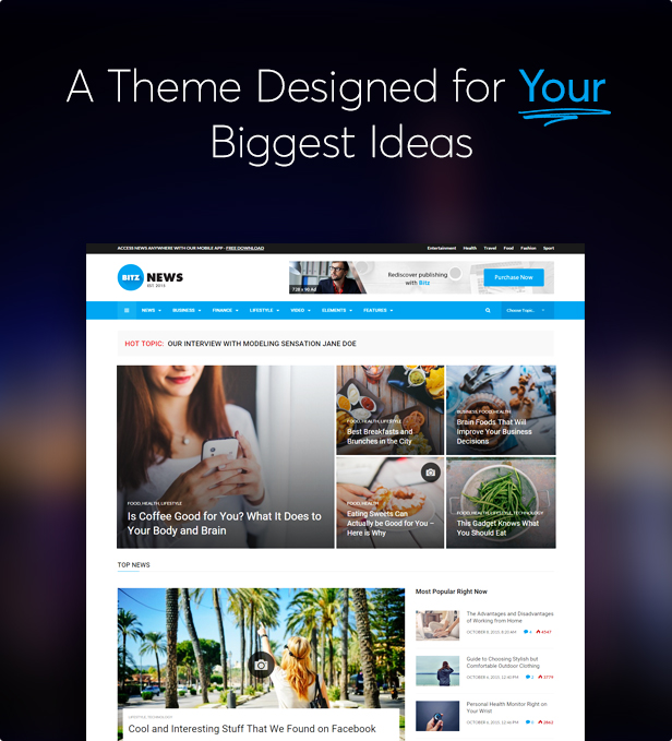 Bitz - News & Publishing Theme