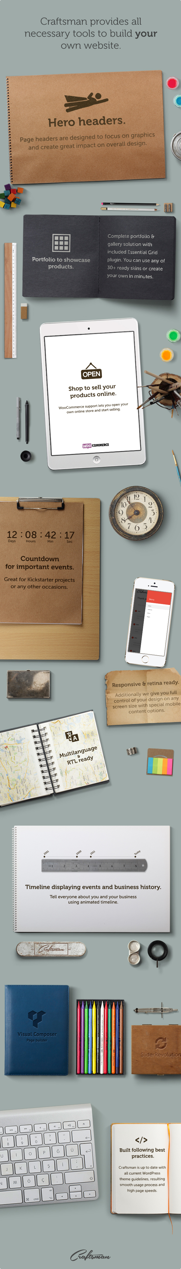 Craftsman | WordPress Craftsmanship Theme - 6